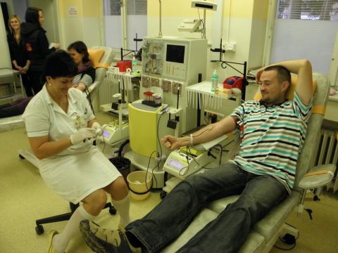 Ve Vsetínské nemocnici vzrostl počet odběrů krve i prvodárců